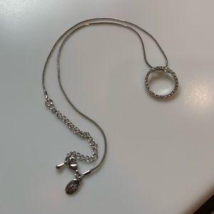 Cookie Lee Rhinestone Circle Necklace